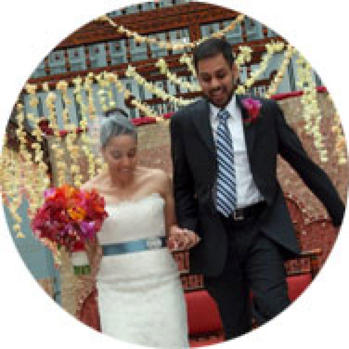 Harold Washington Library Wedding: Jade & Raj: Winter Garden At Harold Washington Library